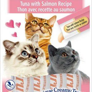 צ'ורו אינאבה חטיף נוזלי לחתול טונה וסלמון 56 גרם.Churu Inaba Liquid Treat For Cats Tuna & Salmon 56 g