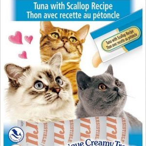 צ'ורו אינאבה חטיף נוזלי לחתול טונה וצדפות 56 גרם.Churu Inaba Liquid Cat Treat Tuna & Scallop 56 g