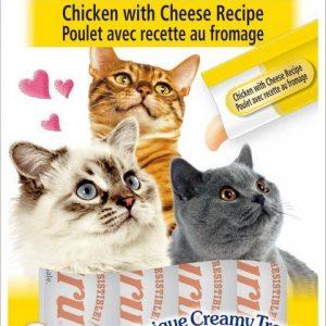 צ'ורו אינאבה חטיף נוזלי לחתול עוף וגבינה 56 גרם Churu Inaba Liquid Cat Treat Chicken & Cheese 56 g