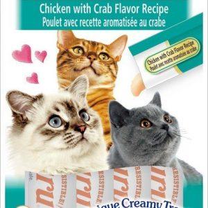 צ'ורו אינאבה חטיף נוזלי לחתול עוף וסרטנים 56 גרם.Churu Inaba Liquid Cat Treat Chicken # Crab 56 g