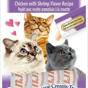 צ'ורו אינאבה חטיף נוזלי לחתול עוף וחסילונים 56 גרם.Churu Inaba Liquid Cat Treat Chicken # Shrimp 56 g