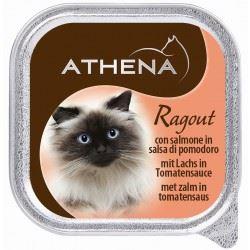 אתנה מעדן פטה בטעם סלמון ברסק עגבניות לחתול,100 גרם