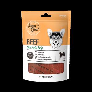 גרקי טיים -מזון מלא לכלבים -מקלות בקר רכות וחתוכות -משקל כולל של 80 גרם