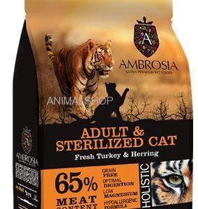 אמברוסיה מזון ללא דגנים לחתולים מסורסים