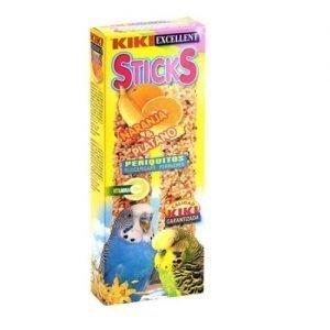 קיקי מקלות דבש תפוז בננה לתוכונים 60 גרם Kiki Sticks Orange And Banana For Budgerigars