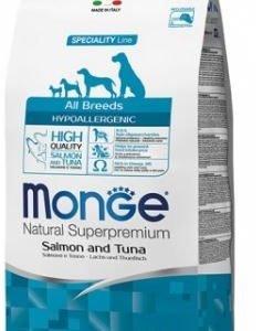 מונגי סלמון וטונה היפואלגני לכלבים מכול הגזעים