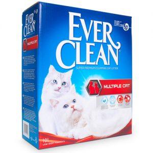 אוורקלין/EverClean אדום – חול לארגז עם מספר חתולים
