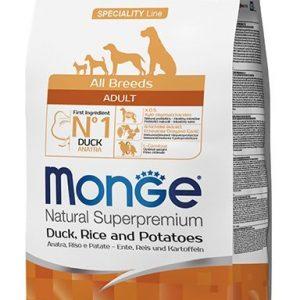 מונגי ברווז אורז ותפוח אדמה לכלב בוגר