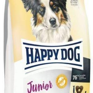 """אוכל לגורי כלבים מגיל 7 חודשים הפי דוג ג'וניור ללא דגנים 10 ק""""ג"""
