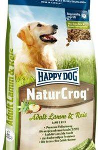 """אוכל לכלבים הפי דוג נייצ'ר קרוק טלה ואורז 15 ק""""ג"""