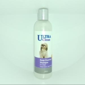 """אולטרה קלין שמפו לניקוי עמוק לכלב 250 מ""""ל Ultra medic antibacterial medical"""