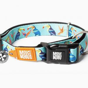 COLLAR – PARADISE MAX & MOLLY קולר מעוצב עם ציורי ציפורים מאקס ומולי