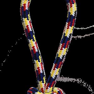 """משחק חבל וצעצוע דנטלי לכלב, צמה קלועה עם ידית אחיזה באורך של 33 ס""""מ"""