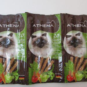 חטיף לחתול אתנה 20 סטיקים מקלוני בשר בקר רך