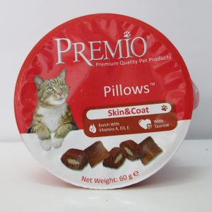 פרמיו חטיף כריות לחתול עור ופרווה 60 גרם PREMIO Pillows Skin & Coat