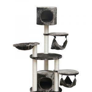 """מתקן גירוד יוקרתי לחתול דגם 3 קומות מספר הדגםמידה 50X50X130 ס""""מ PS504"""