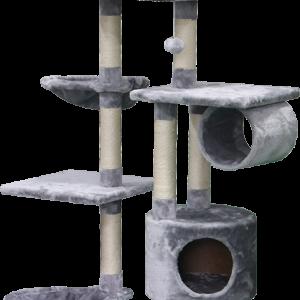 מתקן גירוד מפנק לחתול 4 קומות בצבע אפור דגם PS195 פטקס