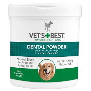 וט בסט אבקה דנטאלית לכלבים לטיפול באבן השן וריח רע מהפה 90 גרם VET'S BEST dental powder for dogs