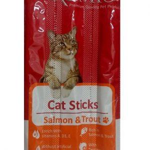 פרמיו חטיף מקלות לחתול סלמון ופורל 15 גרם#PREMIO Cat Sticks Salmon & Trout